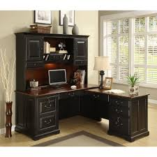 riverside bridgeport l shaped computer desk with optional hutch hayneedle