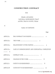 Contract Forms For Construction Construction Contract Forms Construction Work Authorization Form