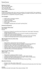 Plumber Resume Resume Examples Resume Job Cover Letter