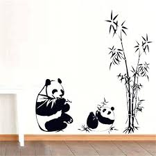 9 quick tips for panda wall small home ideas bamboo panda wall decal sticker wall art on red panda wall art with panda wall art vanilka fo