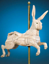 the only limit to antique carousel forms was the carver s imagination this lively rabbit by dentzel exhibits magnificent craftsmanship