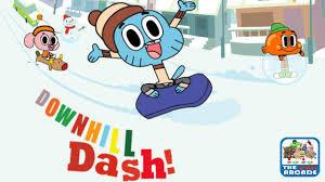 the amazing world of gumball downhill dash steer clear of obstacles cartoon network games you