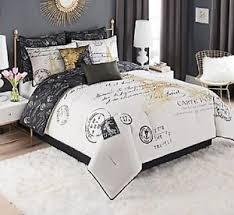 Image Is Loading Bedding Queen Size Paris Comforter Set Decor Bedroom