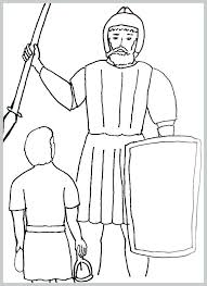 David And Goliath Coloring Sheet Page Pleasant Bible Story For Pdf