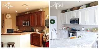 painted kitchen cabinets before and after. Interesting Before Throughout Painted Kitchen Cabinets Before And After O