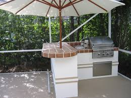Outdoor Barbecue Kitchen Designs Kitchen Beautiful Outdoor Kitchen Design With Brown Varnishe