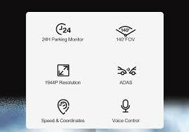 <b>70mai</b> Smart <b>Dash Cam</b> Pro 1944P Speed Coordinates GPS ADAS ...