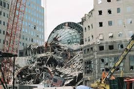 the winter garden buried in debris after the 9 11 s