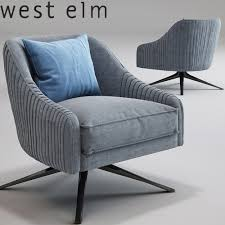 roar rabbit swivel chair west elm 3d model max obj mtl
