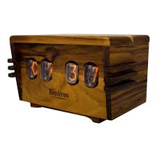 clever design ideas wooden desk clock the unique nixie vacuum alarm a retro cool an clocks australia uk
