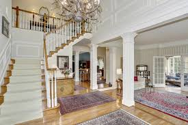 image of 2 story foyer chandelier height