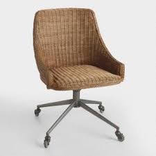 gray swivel office chair 75 vintage wooden. Honey Brown Wicker Tania Office Chair Gray Swivel Office Chair 75 Vintage Wooden A