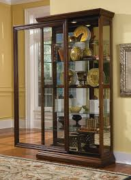 stunning curio cabinet for modern home furniture ideas curio cabinet with sliding door design and glass