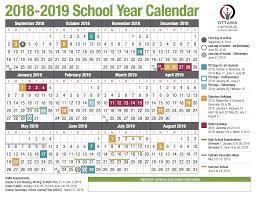 Year To Year Calendar School Year Calendar From The Ocsb