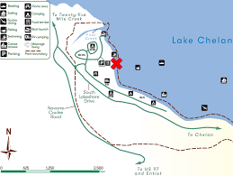 Map Of Lake Chelan Area