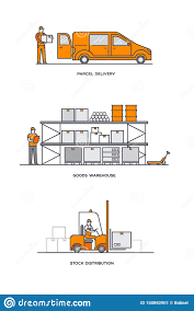 Warehouse Design Online Delivery Service Mail Courier Online Ordering Warehouse
