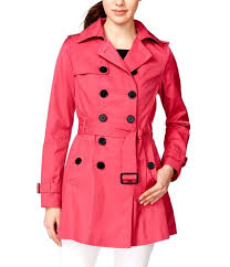 bar iii double ted skirted trench women s coat pink msrp 150