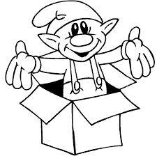 Small Picture Elves Coloring Pages