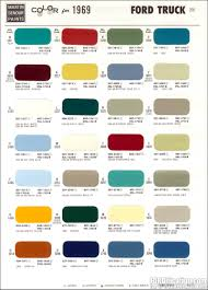 1969 Ford Truck Colors | the exterior color code indicates the ...