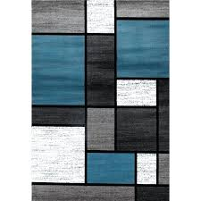 blue and gray area rugs blue grey polypropylene contemporary modern boxes area rug grace blue grey