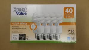Great Value Cfl Light Bulbs Great Value 9 W Sw Sp Clf Bulbs 4 Pack Amazon Co Uk Lighting