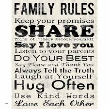 family rules canvas wall cool family rules wall art