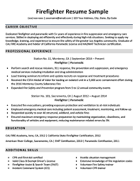 Firefighter Resume Best Downloadable Firefighter Resume Sample Resume Companion
