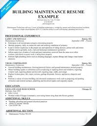 Apartment Maintenance Resume Sample Newskey Info