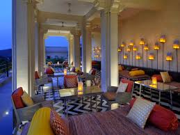 Living Room Bar And Terrace Raas Devigarh Plushescapes