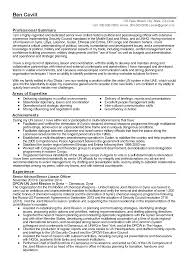 Resume Templates: Senior Liaison Officer