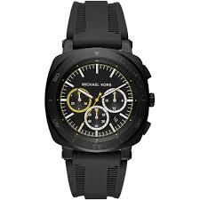 michael kors men s black strap bax watch mk8554 watches from michael kors michael kors men s black strap bax watch