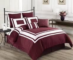 Amazon.com: Cozy Beddings Lux Décor 8 Piece Comforter Set, King, Royal Blue  With White Stripe: Home U0026 Kitchen