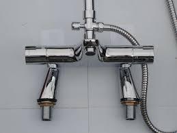 deck thermostatic bath shower mixer taps rigid riser rain head pencil hand shower set bath shower mixer taps diverter repair