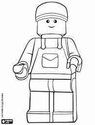 Small Picture Lego Minifig Coloring Page Coloring Coloring Pages