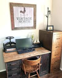 Home officevintage office decor rustic Workspace Rustic Office Decor Seadream Me Noahseclecticcom Rustic Office Decorating Ideas Noahseclecticcom