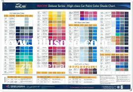 Car Paint Colors Chart Car Paint Color Chart Car Paint Color Chart Manufacturers