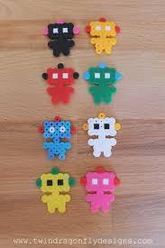 Mini Perler Bead Patterns Inspiration Robot Perler Bead Key Chain Dragonfly Designs