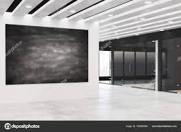 chalkboard office. Modern Office With Chalkboard Banner \u2014 Stock Photo