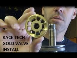 Racetech Gold Valve Install