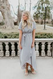 Light Grey Occasion Dress The Wakefield Belted Maxi Dress In Light Grey Dresses