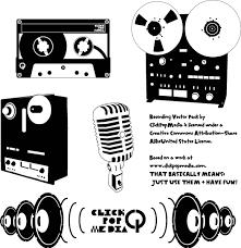 レアなアナログ素材オープンリールやカセットテープの無料ベクター