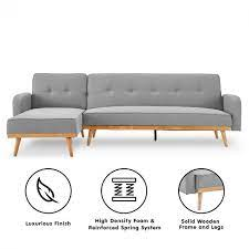 bella 3 seater corner sofa bed with
