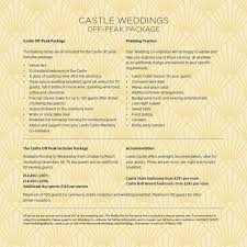 the castle off peak inclusive package