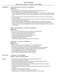 Chemistry Resume Scientist Analytical Chemistry Resume Samples Velvet Jobs 19