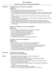 Analytical Chemist Resume Scientist Analytical Chemistry Resume Samples Velvet Jobs
