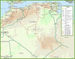 algeria maps  maps of algeria