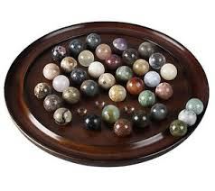 Wooden Solitaire Game With Marbles Solitaire Wooden Game Solid Gemstone Marbles 1100100mm 100100 18