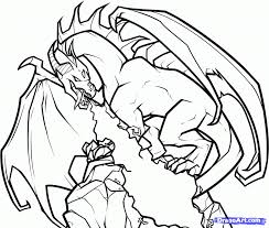 Printable Fire Breathing Dragon Coloring Pagesl