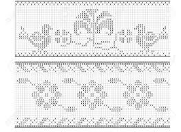 Filet Crochet Patterns Extraordinary Filet Crochet Pattern For Stock Photo Picture And Royalty Free