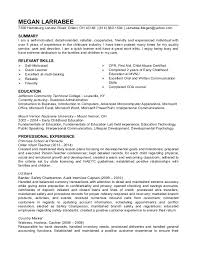 daycare director resume resumes for child care under fontanacountryinn com